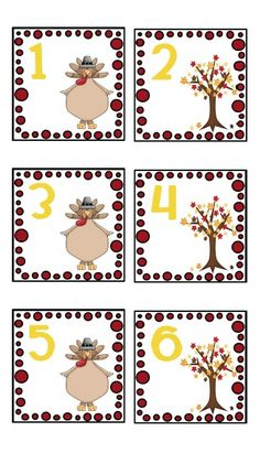 creating & teaching: Free November Calendar Cards