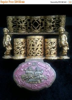 Set of 3 Jewelry Box Lot 1950's 1960's Vintage by MartiniMermaid