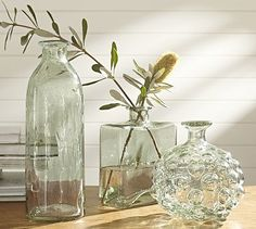 Canela Recycled Glass Vases #potterybarn. Tall cylinder for a lamp!