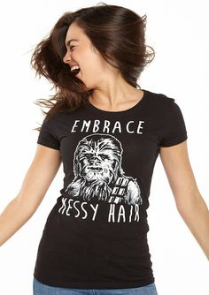 Shirts For Teens Boys, T Shirts For Women, Star Wars Outfits, Star Wars Girls, Plus Size Tank Tops, Messy Hairstyles, Cool Shirts, Graphic Tees, Graphic Design