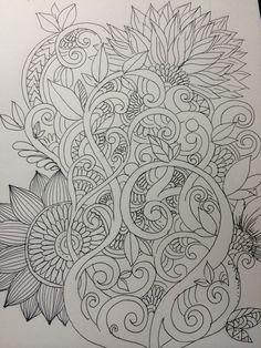 1 hour botanical zentangle