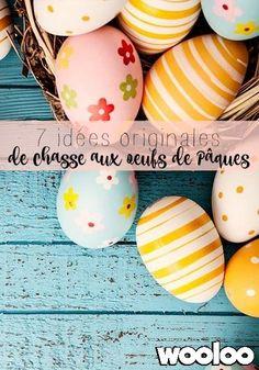 Voici 7 idées originales pour organiser votre chasse aux oeufs de Pâques cette année Easter Eggs, Creations, Voici, Spring, Crafts, Diy, Easter Scavenger Hunt, Cooperative Games, Easter Ideas