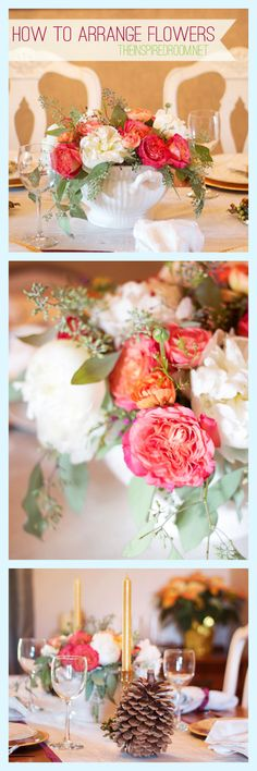 This is brilliant!! How to arrange flowers - tips and easy tutorial!!