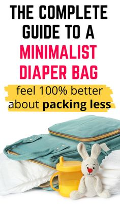 Minimalist Diaper Bag List of Essentials: A complete guide with exactly what to pack in a minimalist diaper bag, and how to establish a restocking habit that guarantees you'll never run out of the essentials (because NO MOM wants that). Diaper Bag List, Diaper Bag Essentials, Pregnancy Advice, What To Pack, Minimalist, Packing, Bags, Bag Packaging, Handbags