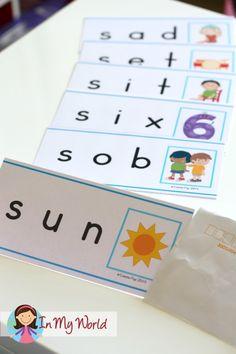 Letter S FREE Beginning S CVC word slider cards