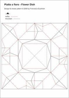 Origami CP Piatto A Fiore