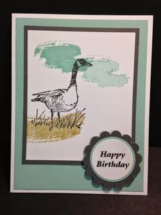 Wetlands, Work of Art, Masculine Birthday Card, Stampin' Up!, Rubber Stamping Handmade Cards