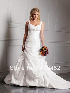 >> Click to Buy << Maternity Wedding Dress Pregnant Beading Sweetheart Shoulder Straps A lLne Taffeta Ruffles Free Shipping NW212 #Affiliate