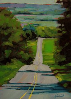 """Lancaster County"" by Karen Jurick.  We all know a road just like this."