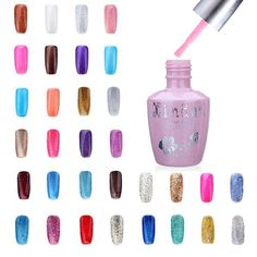 18ml Nail Art Soak Off Glitter 97-144 Color UV Gel Polish