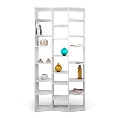Dublin 10 casiers biblioth que tag re laqu e blanc brillant bibliotheques - Etagere blanche design ...