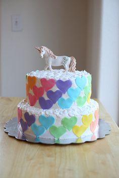 Ashley Mae's Rainbow/Unicorn cake