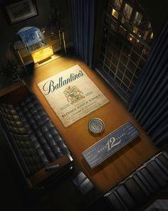 Ballantines Scotch Whisky by Act2-Um , via Behance