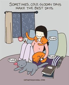 Nothing like curling up with a good book on a rainy day with your pets around you. ❤️