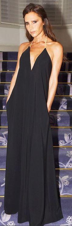 Victoria Beckham, black halter jumpsuit