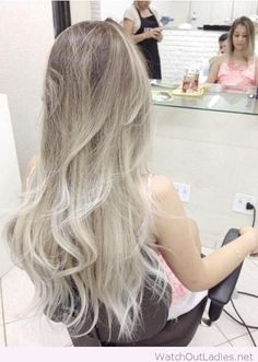 Ash brown and platinum blonde