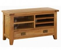 Vancouver Oak Small TV Unit with 5 Shelves & 1 Drawer