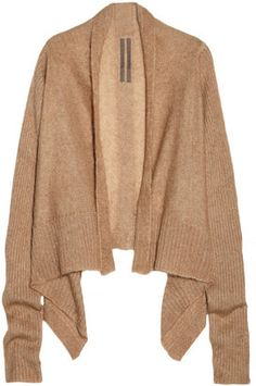 ShopStyle: Rick Owens Draped mohair and silk-blend cardigan