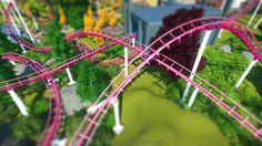 Planet Coaster Loopy Landscapes Park. Stahl-Achterbahn...