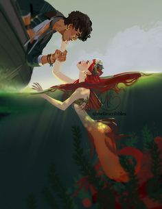 Another illustration based on my mermaid and sailor ocs i m slowly planning how to share their story with you guys i m really bad at expressing myself in words heh anyway hope you like it Inspiration Art, Character Inspiration, Character Art, Mermaid Drawings, Mermaid Art, Anime Art Fantasy, Yuumei Art, Fanart, Mermaids And Mermen