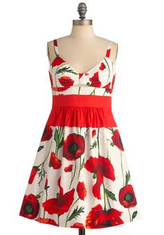 Quick Visit Dress in Poppies, #ModCloth