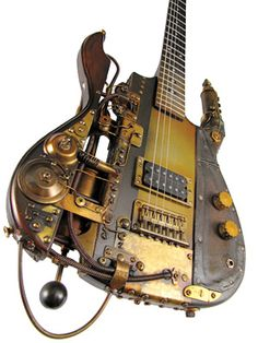 Steampunk guitars by Tony Cochran Custom Electric Guitars. I must learn more (something even) about steampunk. Steampunk Rock, Chat Steampunk, Steampunk Guitar, Design Steampunk, Arte Steampunk, Style Steampunk, Steampunk Fashion, Gothic Fashion, Emo Fashion