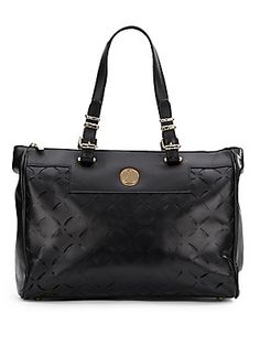Pebbled Leather Satchel - SaksOff5th