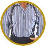 Stylish Leather Suspender