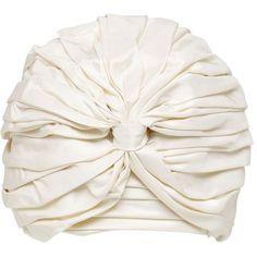 Alex Women Silk Taffeta Turban ($160) ❤ liked on Polyvore featuring accessories, hats and turban hats
