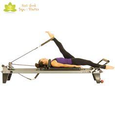 hamstring stretch pilates reformer exercise 2