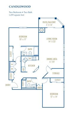 The Candlewood.  2 BR, 2 bath corner unit with separated bedrooms, a large storage closet, and full sized washer/dryer.  1,259 sqf. Linen Bedroom, Two Bedroom, Bedrooms, Narrow Closet, Corner Unit, Closet Storage, Washer And Dryer, Square Feet, Dining Area