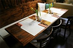 Placemats length wise across table. ZELLER BISTRO Branding on Behance