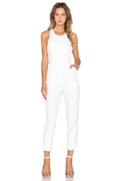NBD x Naven Twins Take A Bow Jumpsuit in Optic | REVOLVE