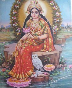 "The ""Owl"" form of Goddess Lakshmi"