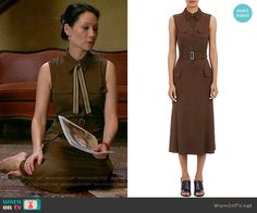 "Joan's brown midi shirtdress on Elementary. Outfit Details: <a href=""https://wornontv.net/55934/"" rel=""nofollow"" target=""_blank"">wornontv.net/55934/</a> <a class=""pintag searchlink"" data-query=""%23Elementary"" data-type=""hashtag"" href=""/search/?q=%23Elementary&rs=hashtag"" rel=""nofollow"" title=""#Elementary search Pinterest"">#Elementary</a>"