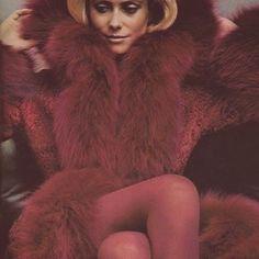 Vintage fur obsession: Catherine Deneuve wearing an Yves Saint Laurent fur coat pictured by Helmut Newton in 1971. #VestiaireVintage #inspiration Shop our vintage fur selection online. #YvesSaintLaurent #vintage #vcselection #HelmutNewton