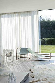 sheer white curtains