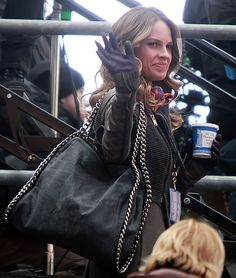 Hilary Swank with our #Falabella bag.