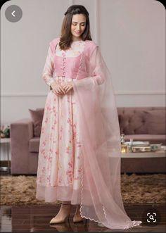 Pink Color Pakistani Designer Knee Length Readymade Salwar Kameez Suit Indian Ethnic Ramadan Party Wear Heavy Shalwar Kameez Plazo Pant Dres