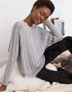 Aerie Cable Sweater