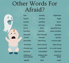 English Vocabulary .. afraid