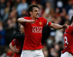 Former United defender Gary Neville stayed loyal to his club.