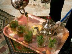 Moroccan mint tea, omnomnom