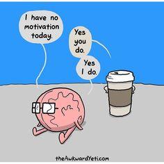 Brain Heart Coffee Funny Fun Cute Truth English