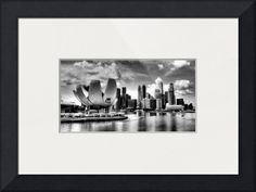 """""""City Skyline  Urban Landscape Singapore BW"""" by 17 Victory & Co, Singapore // City Skyline : Urban Landscape Singapore // Imagekind.com -- Buy stunning fine art prints, framed prints and canvas prints directly from independent working artists and photographers."""