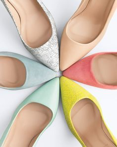 { colorful j.crew elsie pumps }