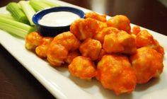 Spicy Buffalo Cauliflower Wings.