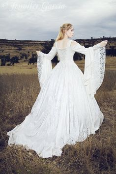 I'm a total nerd. Would love this dress! Gwendolyn Medieval Wedding Gown Velvet and Lace by RomanticThreads, $465.00