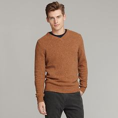 Tommy Hilfiger: Ryan has this cashmere sweater in powder blue.