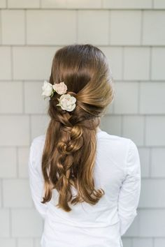 flower girl braid wedding hairstyle